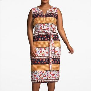 Lane Bryant Floral Belted A Line Dress